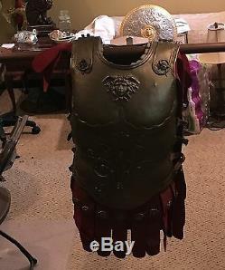 1951 Quo Vadis & 1959 Ben Hur Caesar prop Roman brass decorated armor epic film