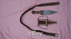 1960 Spartacus & 1962 Cleopatra movie prop dagger scabbard & pugio Ben Hur belt