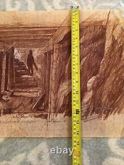 1984 Goonies Original Concept Art By Jack Johnson Lighthouse Basement Sloth Prop