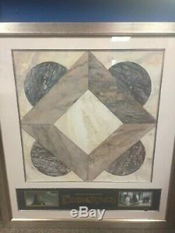 2006 Lord of the Rings Movie Prop Original Minis Tirith Floor Tile Framed COA