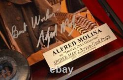 ALFRED MOLINA Signed Spider-Man AUTOGRAPH, Screen-Used COSTUME & COIN, DVD, COA