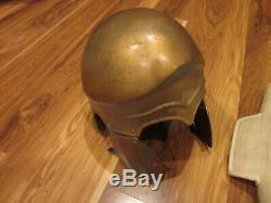 Alexander Movie Macedonian Greek Linothorax Armor Helmet Greaves prop wardrobe
