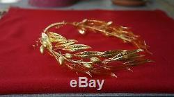 Alexander the Great movie prop King Philip II gold laurel wreath corona aurea