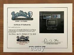 Amazing Star Wars ROTJ Framed Death Star Piece 6x3 Screen Used Prop Store COA