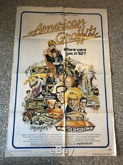 American Graffiti (1973) Movie Poster 27x40 Original, VHS/prop Plate