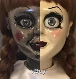 Annabelle Lifesize Original Prop Doll &Book & Music Box from the Conjuring Movie