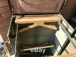 Antique Hartmann Steamer Cushion Top Movie Prop Travel Wardrobe Trunk