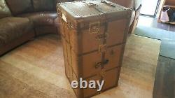 Antique Steamer Travel Wardrobe Trunk Home Decor/Movie Prop E. S. R (Pickup Only)