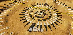 Authentic Dances With Wolves Movie Prop Buffalo Hide Native American Art 90x64