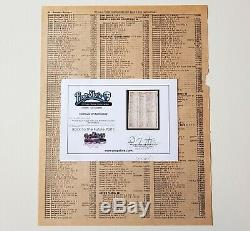 BACK TO THE FUTURE 1 original 1955 Phone Book page (COA Prop Store)