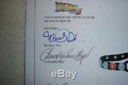 BACK TO THE FUTURE II Original Movie Prop Signed COA by J. Fox and Lloyd