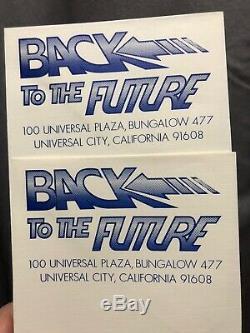Back To The Future Movie Memorabilia BTTF RARE Title- Original