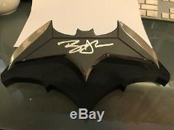 Ben Affleck Autographed Signed Batman QMX Batarang Prop Replica Beckett BAS