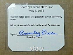 Beverley Owen the Munsters TV Prop Hairbrush Set with Signed With JSA Sticker