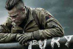 Brad Pitt Fury Wardaddy Production Made Hero Original Tanker Jacket Movie Prop