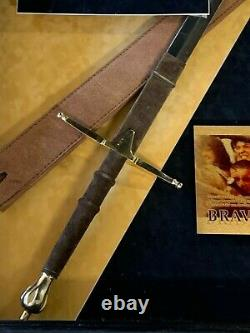 Braveheart Mel Gibson Signed Photo Prop Sword-Display Case Movie Large 42x28