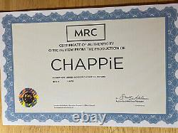 CHAPPIE SCREEN WORN SPECIAL FORCES UNIFORM with VIP AUCTIONS COA (HALLOWEEN)