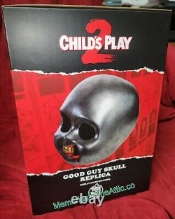 CHILD'S PLAY 2 Movie CHUCKY GOOD GUY'S SKULL PROP Trick Or Treat Studios NEW OH
