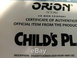 CHILD'S PLAY Screen Used CHUCKY'S KNIFE Movie Prop Shown in Chuckys Hand horror