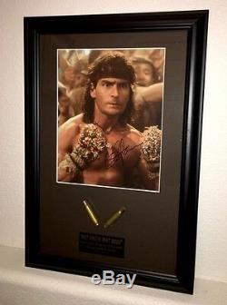 Charlie Sheen signed autograph Hot Shots Screen Used Prop Bullet COA Bridges