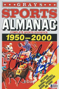 Christopher Lloyd Back To The Future Autograph Signed Prop Almanac Becket 2