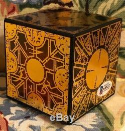 Clive Barker Hand Signed Hellraiser Puzzle-Box Cube Prop with Beckett COA