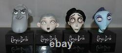 Corpse Bride Victor, Victoria, Paul, Barkis Puppet Head'Cast from the Original