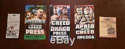 Creed 2 Production Used COMPLETE PRESS Fight Pass Set Original Movie Prop