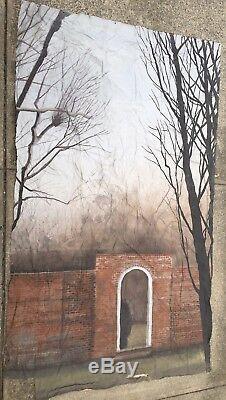 DEATHTRAP (1982) Original Hand Painted Canvas Movie Backdrop, 3 pcs, film cinema