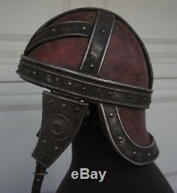 DRACULA UNTOLD Movie Prop Roman Medieval Helmet leather LARP SCA