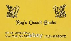 Dan Aykroyd Ray's (Stantz) Occult Books Business Card Prop Ghostbusters 2 1989