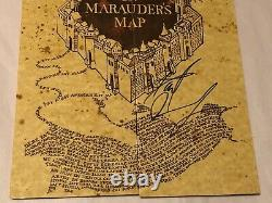 Daniel Radcliffe Signed Harry Potter Marauder's Map Prop Replica with Beckett COA