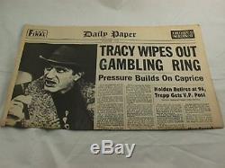 Dick Tracy Movie Prop Newspaper Al Pacino as Big Boy Caprice Screen Used 1990