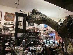 Dinosaur Sculpture, Movie Prop quality, Brachiosaurus Floor mount, glass eye HUGE