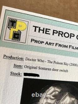 Doctor Who Sontaran Door Switch Original Sci-Fi TV Prop COA Season 4 EP5
