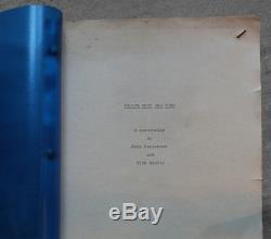 ESCAPE FROM NEW YORK Movie Script 1981 RARE scifi prop John Carpenter COA signed