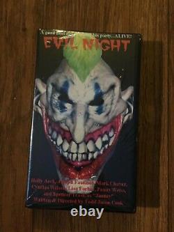 EVIL NIGHT SCREEN USED Peter's Head Horror Movie Prop 1992 COA + VHS & DVD