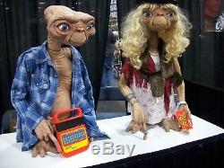 E. T. The extra terrestrial lifesize NECA movie prop autographed signed