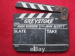 Edgar Rice Burroughs Original Clapperboard For Greystoke- The 1984 Tarzan Film