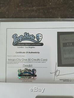Extremely Rare! Dredd Mega City 50 Credits Card Original Screen Used Movie Prop