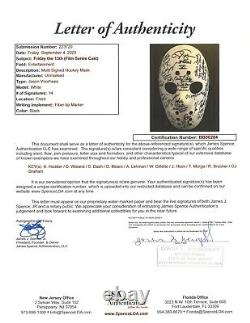 Friday the 13th Hockey Mask signed by EVERY ACTOR WHO PLAYED JASON! JSA LOA