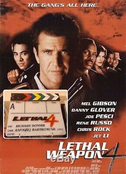 Full Size Clapperboard Lethal Weapon 4, Movie Prop, Mel Gibson, Clapper, Slate