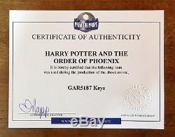 HARRY POTTER Hogwarts Keys Certified Movie Prop Pottermore Emma Watson