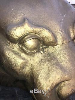 HUGE Movie Prop Fiberglass Wall Mounted LION Head Indiana Jones & Last Crusade