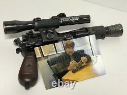 Harrison Ford Signed Han Solo Metal Prop Blaster COA Photo Proof Star Wars Rare