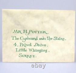 Harry Potter Hogwarts Acceptance Letter Original Screen Used Movie Prop