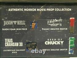 Horror Movie Prop display Friday the 13th Freddy Jason Chucky Screen Used