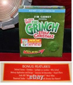 How GRINCH Stole Christmas Jim Carrey PROP MAIL, Frame, SIGNED PP, DVD, UACC COA