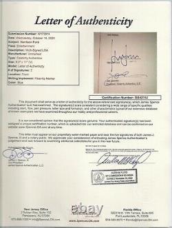 Indiana Jones Kotcs Used Prop Knife & Scabbard Signed By Harrison Ford Jsa Coa