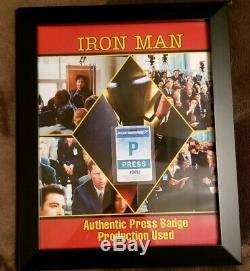 Iron Man I, Press Badge Movie Prop, Production Used, Memorabilia Marvel Avengers